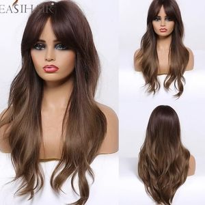 brown hair synthetic wig